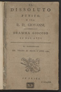 "A very early text of ""Don Giovanni"""