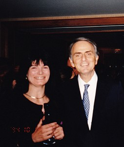 Carolyn Porco and Carl Sagan
