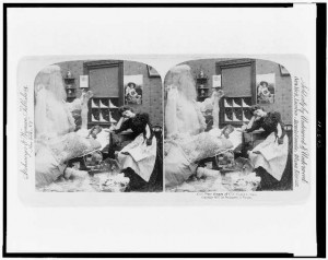 Our pets dream of old Santa Claus/Strohmeyer & Wyman. 1897. Prints and Photographs Division