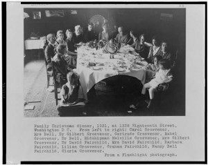 Family Christmas dinner. 1921. Prints and Photographs Division
