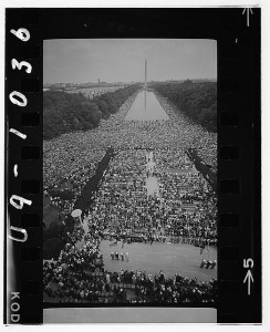 Civil rights march on Washington, D.C. Photo by Warren K. Leffler. Prints and Photographs Division.