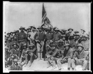 Colonel Roosevelt and his Rough Riders, Battle of San Juan. Prints and Photographs Division.