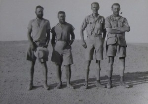 W.B. Kennedy Shaw, left, with other participants in Sudan and Egypt expedition. 1935. Courtesy of Meg Kennedy Shaw.