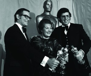 "Alan Bergman, Marilyn Bergman and Marvin Hamlisch accept the Academy Award for ""Best Song,"" 1974. ASCAP Foundation Collection, Music Division."