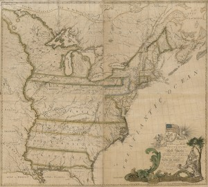 "Abel Buell, ""A New and Correct Map of the United States of North America,"" 1784. On deposit to the Library of Congress from David M. Rubenstein."