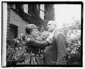 Warren G. Harding with his wife, Florence, in 1920 / Prints and Photographs Division.