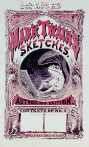 Pamphlet for which Samuel Clemens (Mark Twain) sought a copyright from the Library of Congress. Prints and Photographs Division.