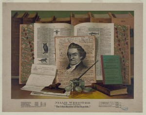 Noah Webster. Born 1758-died 1843. The schoolmaster of the republic. Print, Dec. 19, 1891. Prints and Photographs Division.