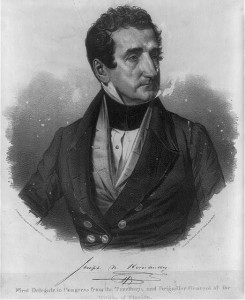 Joseph N. Hernandez, first delegate to Congress from the Florida Territory and brigadier general of the Militia of Florida. Between 1850 and 1857. Prints and Photographs Division.