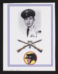 Antonio Martinez service picture with division logo. Veterans History Project.