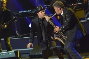 Gavin DeGraw (left) and longtime Billy Joel bandmate Mark Rivera. Photo by Shawn Miller.