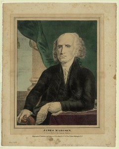 James Madison, fourth president of the United States. Between 1836 and 1842. Prints and Photographs Division, Library of Congress.