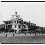 Old members clubhouse at Pimlico - oldest building in American racing, dates back to 1870. May 15, 1965. Prints and Photographs Division.