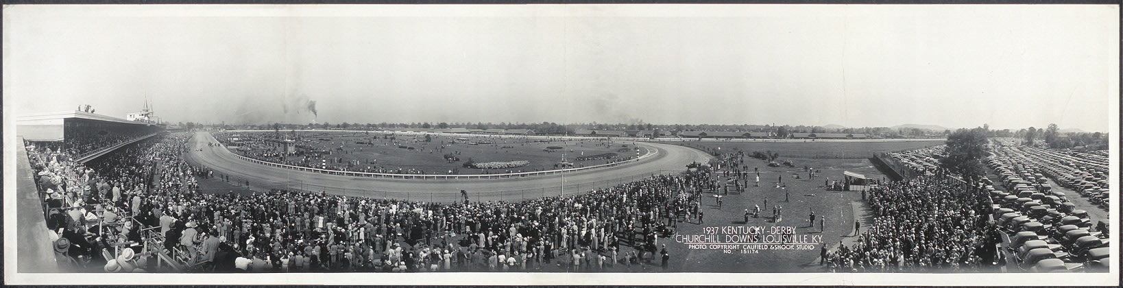Kentucky Derby, Churchill Downs, Louisville, Ky. Photo by Caufield & Shook, 1937. Prints and Photographs Division.