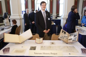 Joseph Patton at the Junior Fellows VHP table
