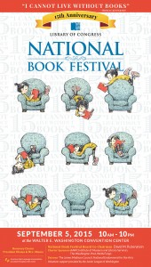 2015 National Book Festival Poster. Peter de Sève, artist.