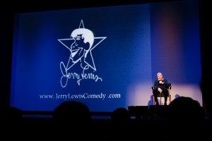 Jerry Lewis onstage at the State Theatre on Oct. 9. Photo by Shawn Miller.