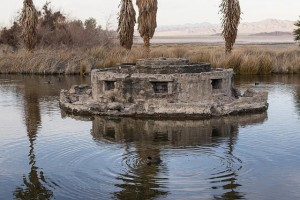 "The non-functioning fountain within an artificial pond called ""Lake Tuendae"" at  Zzyzx. Photo by Carol M. Highsmith, 2012. Prints and Photographs Division."