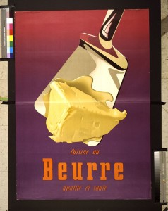 Advertising poster for butter, Donald Brun, 1951. Prints and Photographs Division.