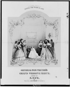 """General Tom Thumb's Grand Wedding March,"" composed by E. Mac, Philadelphia 1863. Prints and Photographs Division."