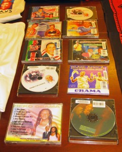 Music CDs inspired by Obama's historic election. African and Middle Eastern Division.