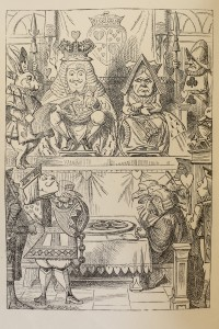 "This frontispiece from the earliest editions of ""Alice's Adventures in  Wonderland"" is by John Tenniel."