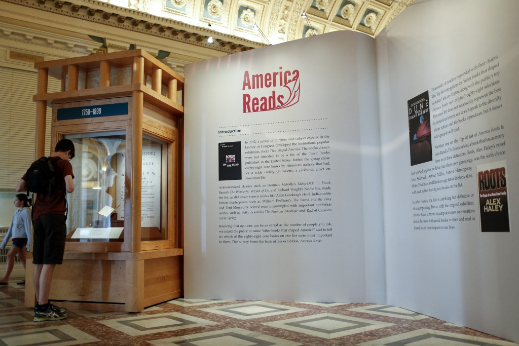 "The ""America Reads"" exhibition opens, June 16, 2016. Photo by Shawn Miller."