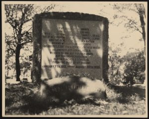 Ann Rutledge grave, Petersburg, Illinois. Rare Book and Special Collections Division.