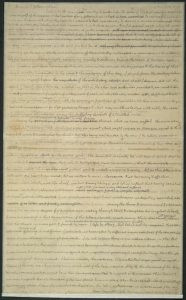 From the Thomas Jefferson Papers, a draft of Jefferson's 1804 Inaugural address, in Jefferson's own hand. Manuscript Division.
