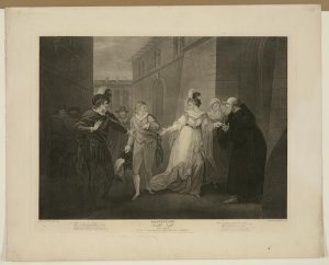 "Act V. Scene I of ""Twelfth Night,"" by William Shakespeare. Prints and Photographs Division."