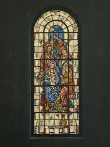 Design drawing for stained glass window showing The Epiphany, by J. & R. Lamb Studios. Prints and Photographs Division.
