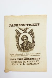 Andrew Jackson ticket. Rare Book and Special Collections Division;