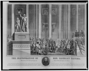 The inauguration of Gen. Zachary Taylor. 1849. Prints and Photographs Division.