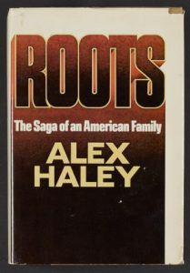 Cover image of Rosa Parks's Personal Copy of Roots (1976), inscribed by Alex Haley. Manuscript Division.