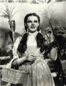 "Judy Garland in ""The Wizard of Oz"" (1939). Courtesy MGM"