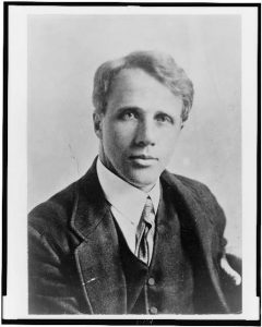 1910 portrait of Robert Frost, the 1958–59 poet laureate consult in poetry.