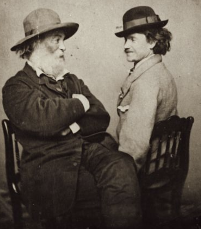 Walt Whitman and Peter Doyle, 1865. Photo: Moses P. Rice and Sons. Feinberg-Whitman collection.