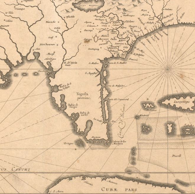 Joannes De Laet, Florida Et Regiones Vicinae. 1640. Geography & Map Division, Library of Congress.