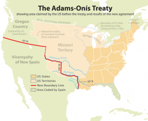 The Adams-Onis Treaty. Courtesy of