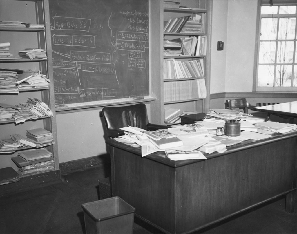 Einstein's desk at the Institute for Advanced Study in Princeton. Image Courtesy of the Institute for Advanced Study