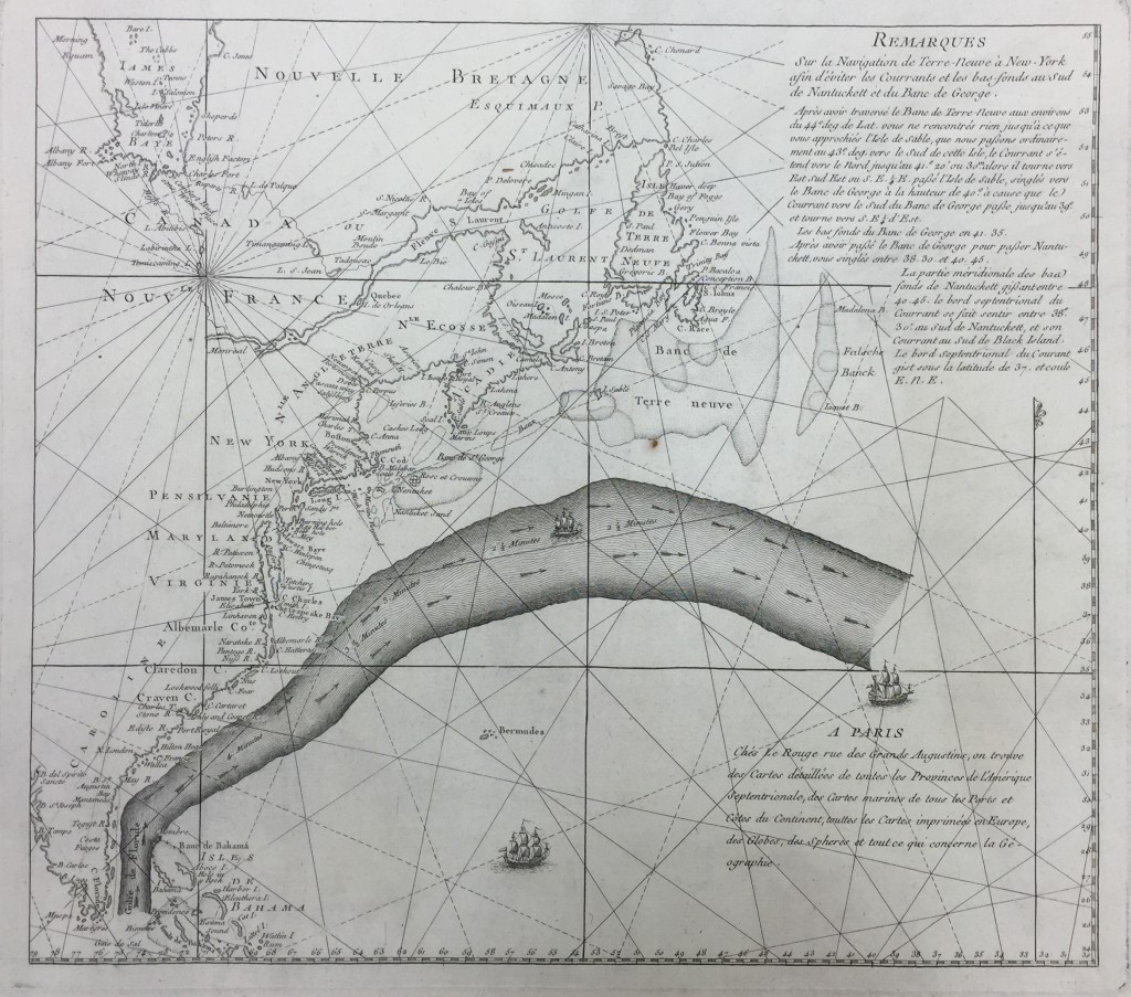 Remarques Sur la Navigation de Terre-Neuve à New-York afin d'éviter les Courrants et les bas-fonds au Sud de Nantuckett et du Banc de George. [1785]. Geography and Map Division, Library of Congress.
