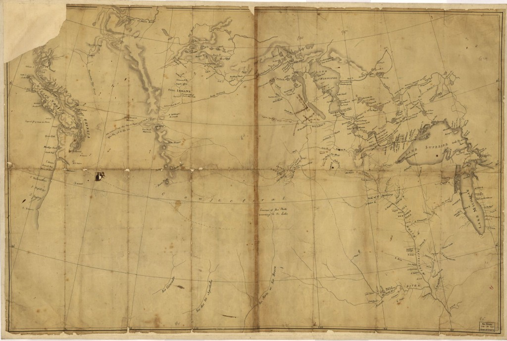 English-born surveyor and cartographer, Nicholas King, was commissioned to create a planning map for Lewis & Clark's 1804 expedition into the American West. [[Lewis and Clark map, with annotations in brown ink by Meriwether Lewis.] 1803. Geography & Map Division, Library of Congress.