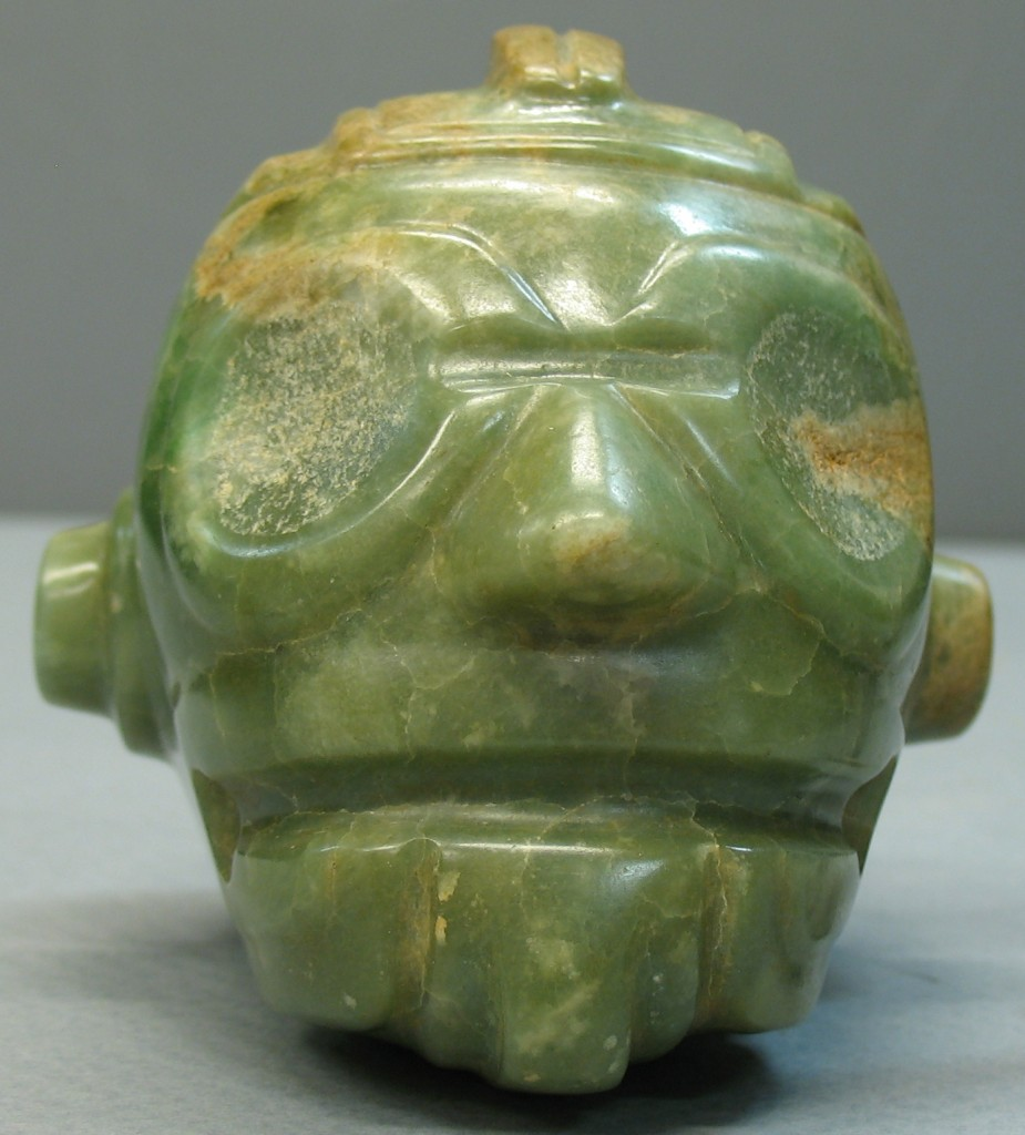 Ceremonial Jade Mace Head. Classic Period Maya, 300-900 CE. Geography and Map Division, Library of Congress.