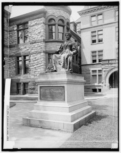 Emma Willard statue, Troy, N.Y. 1905. Detroit Publishing Company Photograph Collection. Prints and Photographs Division, Library of Congress.
