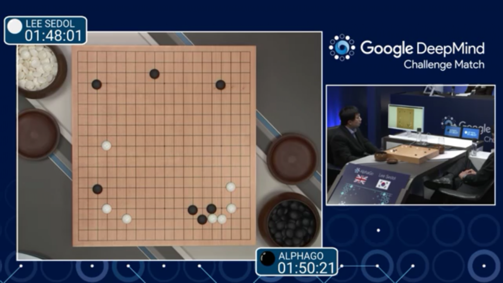 Image of Google's DeepMind Playing Go Champion Lee Sedol. Courtesy DeepMind, London.