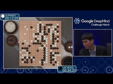 Screenshot of live game feed from the Alphago/Lee Sedol Match. Courtesy Google's DeepMind.
