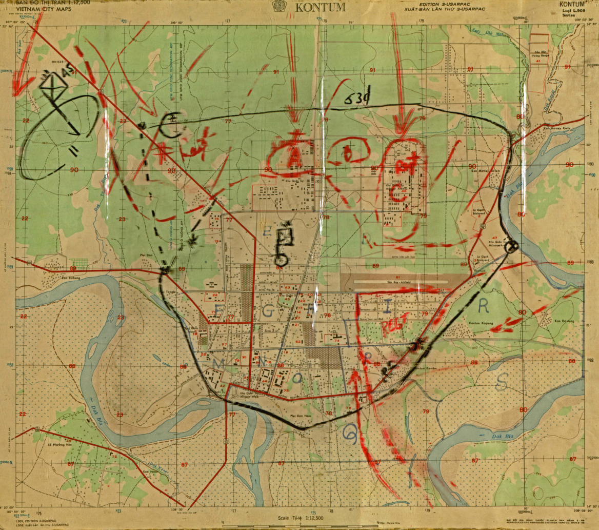 The Map Collection Of Neil Sheehan, Reporter Of The