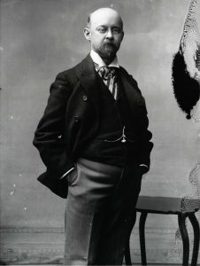 "A Washington Post photo of Philip Lee Phillips taken in 1905 upon his return from Europe. The paper dubbed him the ""King of Maps,"" after he had acquired rare cartographic treasures from Europe's best map dealers and galleries."