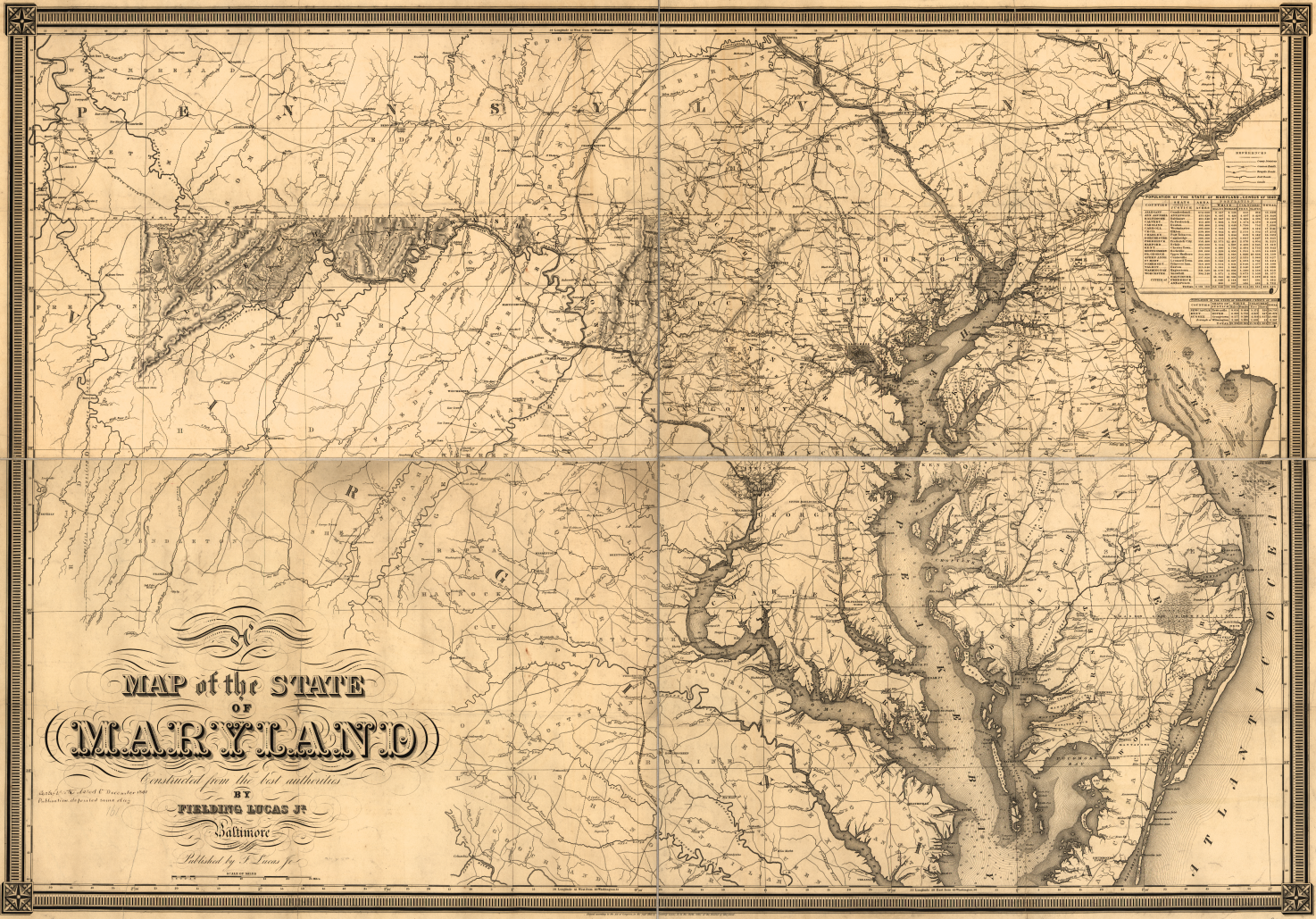 Lucas Map of Maryland