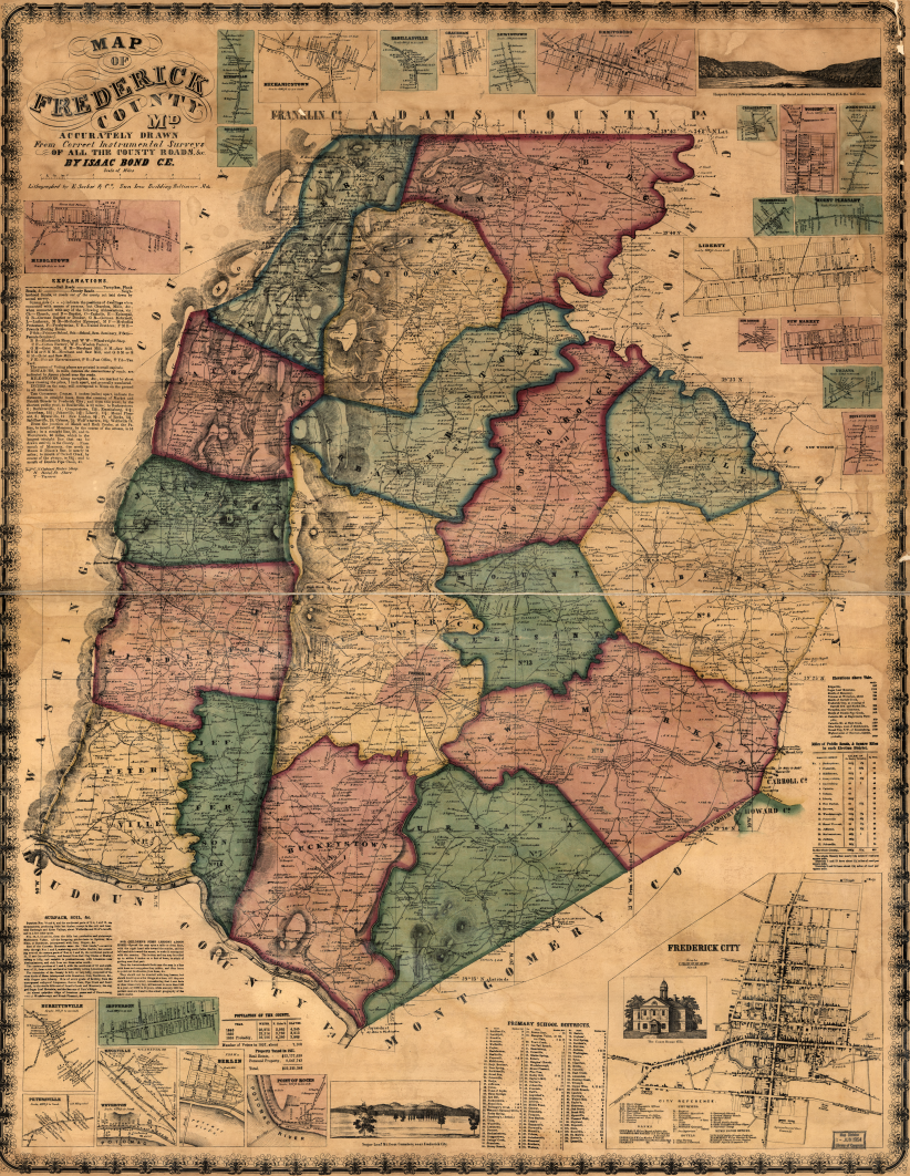 Bond Map of Frederick County, MD
